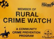 Rural Crime Watch sign small 2017 11