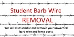 Student Barb Wire Removal