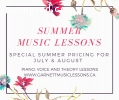 Summer Piano/Voice Lessons!